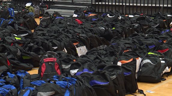 4,000 backpacks stuffed with school supplies for Greenville County families