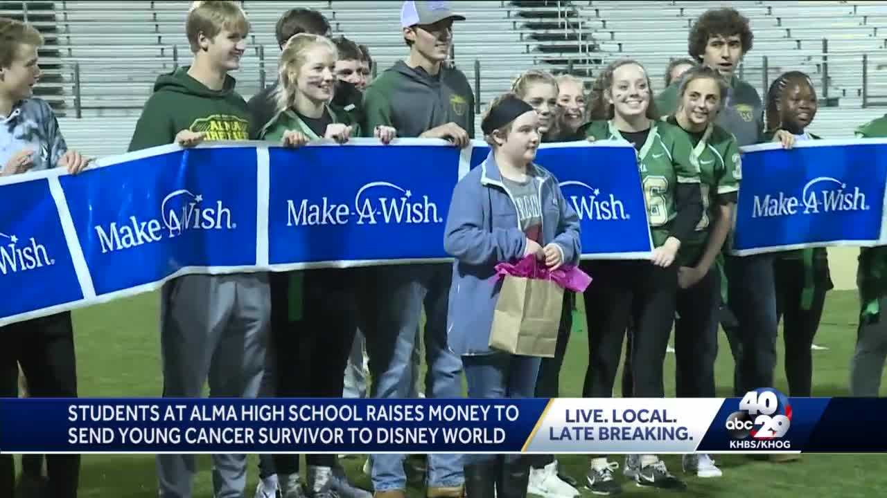 Students at Alma High School raise money to send young cancer survivor to Disney World