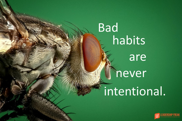 Bad Habits are Never Intentional