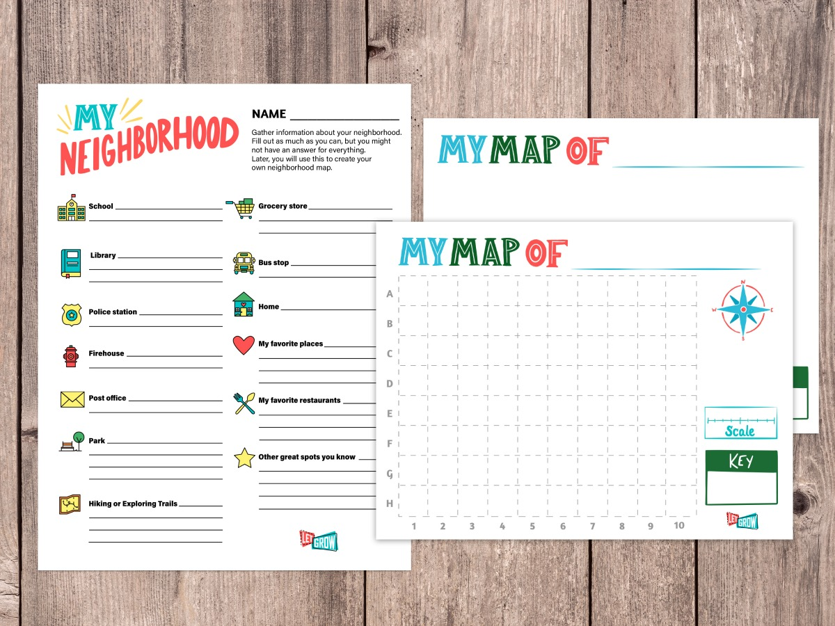 Make Your Own Neighborhood Map with These Free Printables