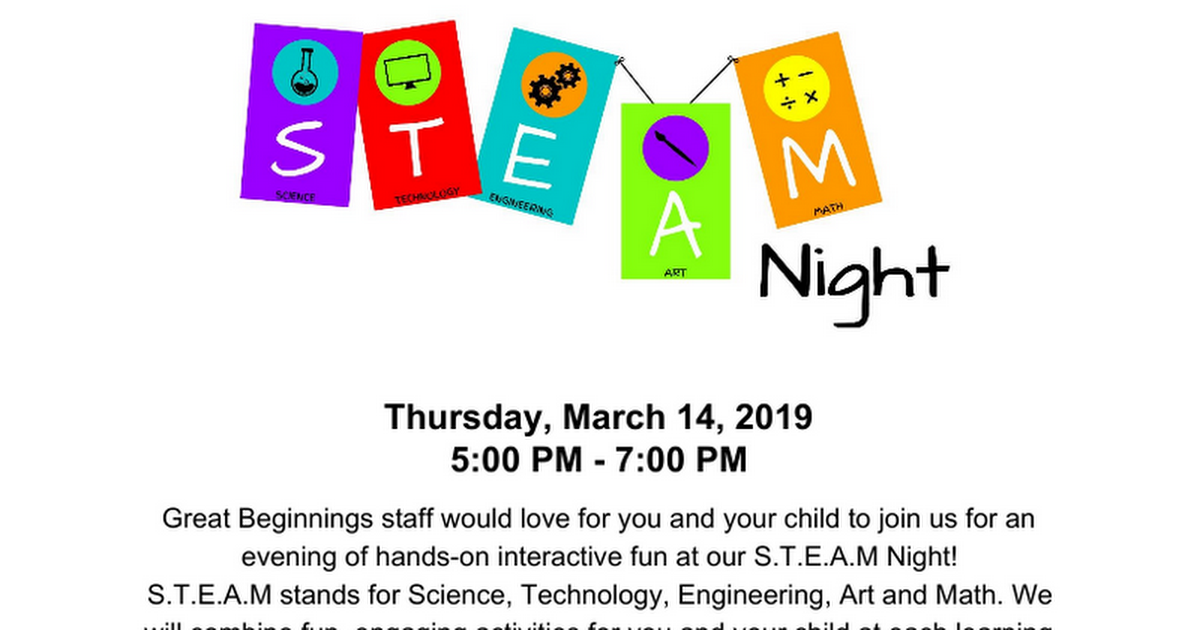 STEAM Night March 2019