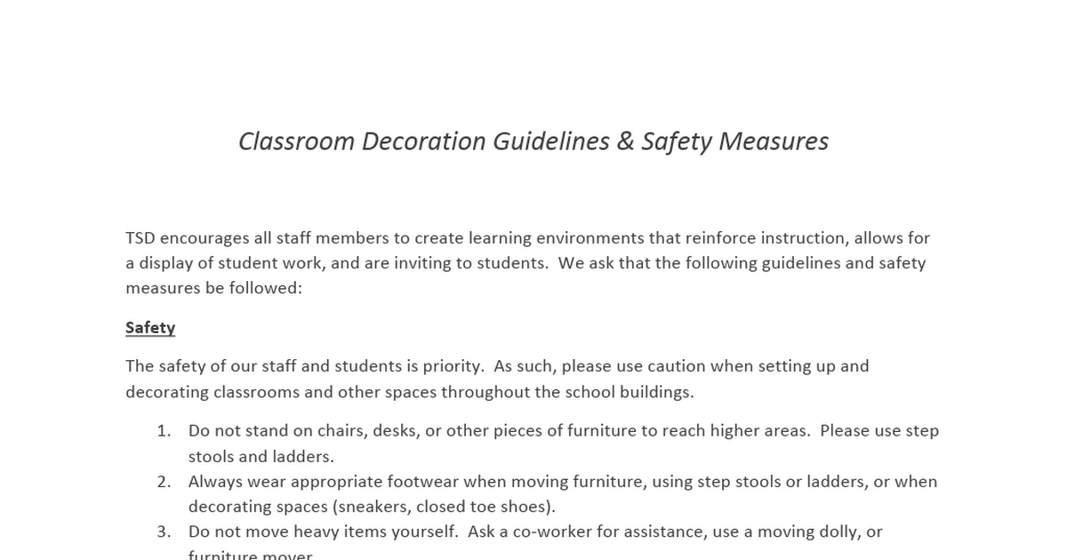 Classroom Decoration Guidelines - 1.docx