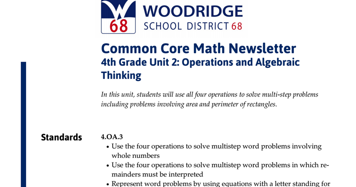 Math 4th grade Unit 2 newsletter.pdf