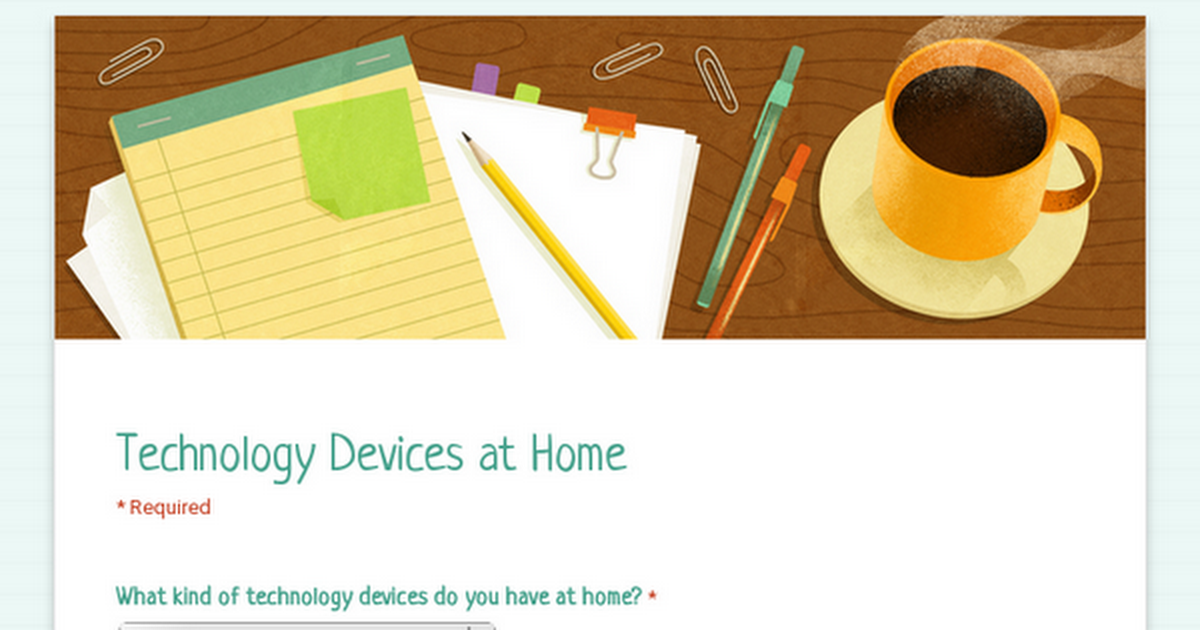 Technology Devices at Home