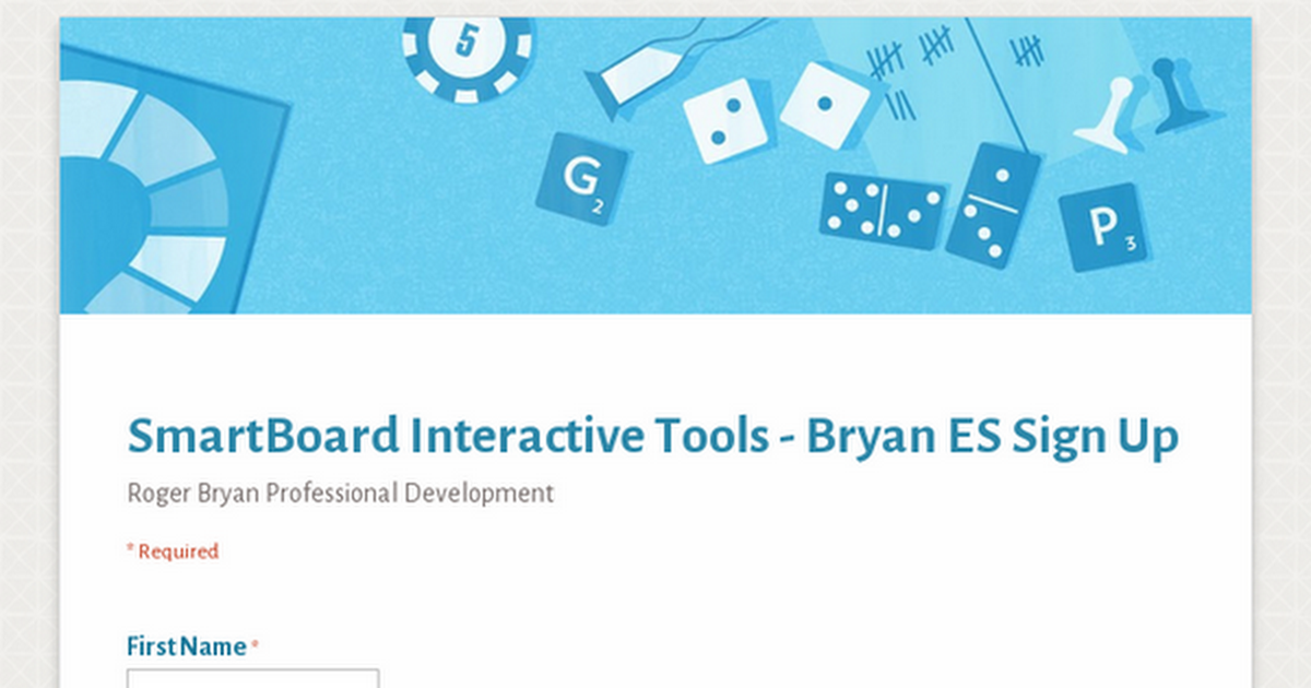 SmartBoard Interactive Tools Sign Up