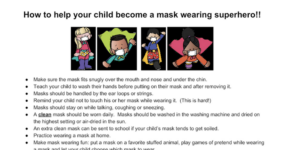 Mask wearing superheroes