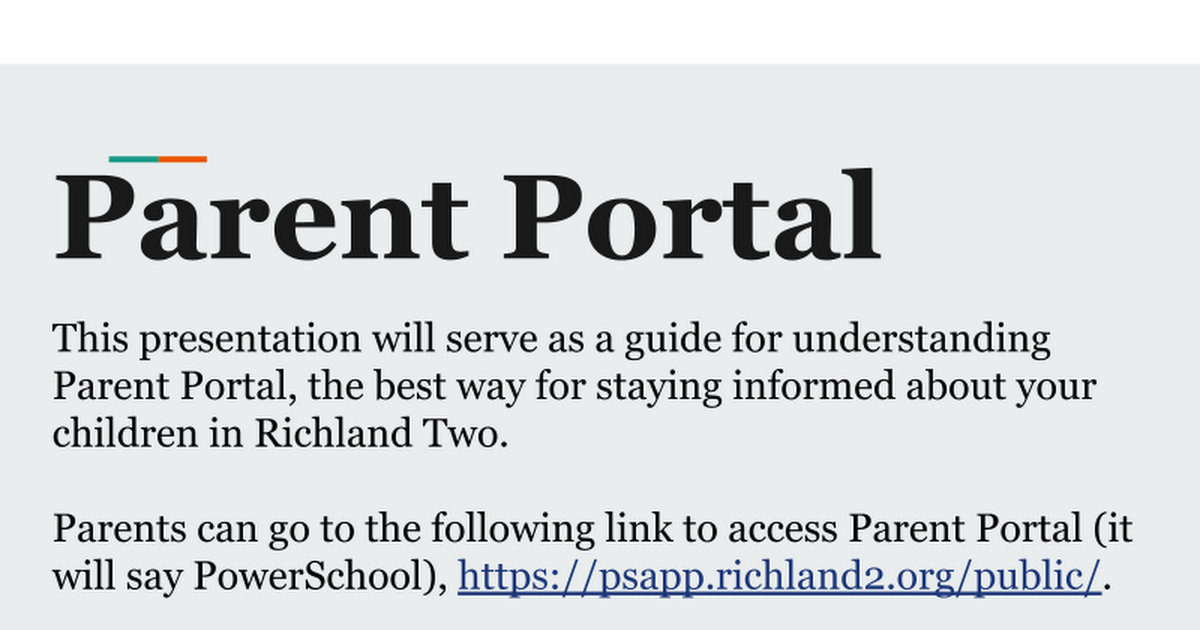 Copy of Getting to know Parent Portal