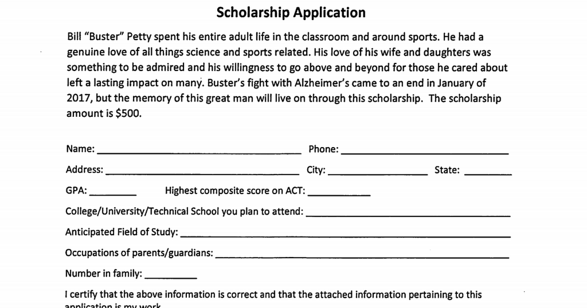 Bill Buster Petty Scholarship.pdf