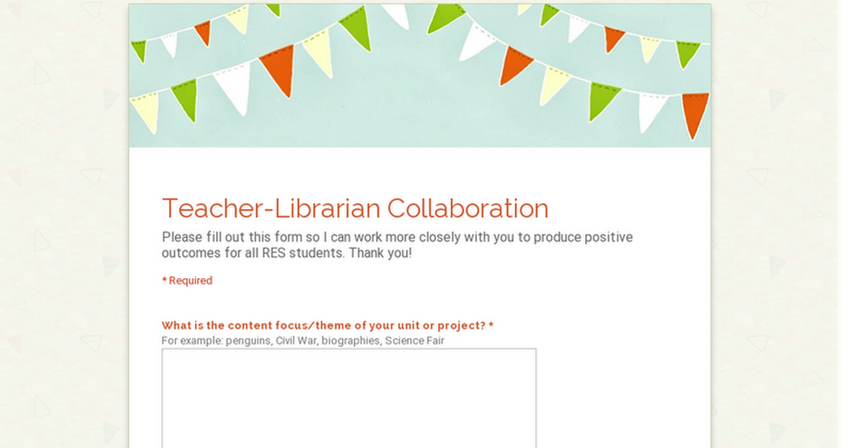 Teacher-Librarian Collaboration