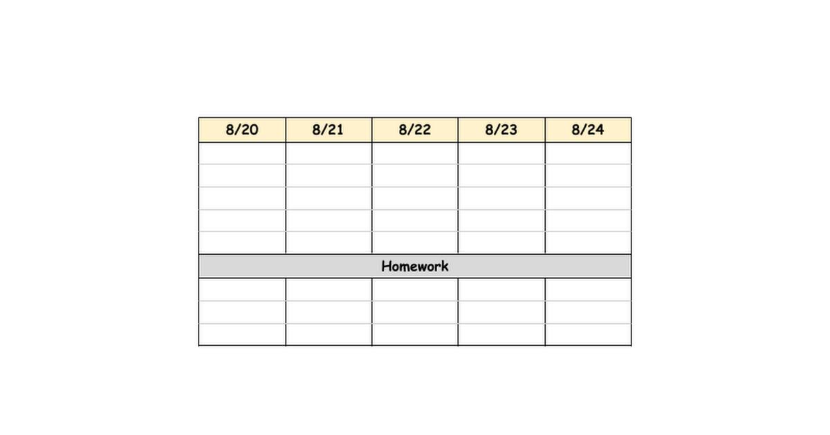 Science 8 Weekly Agenda