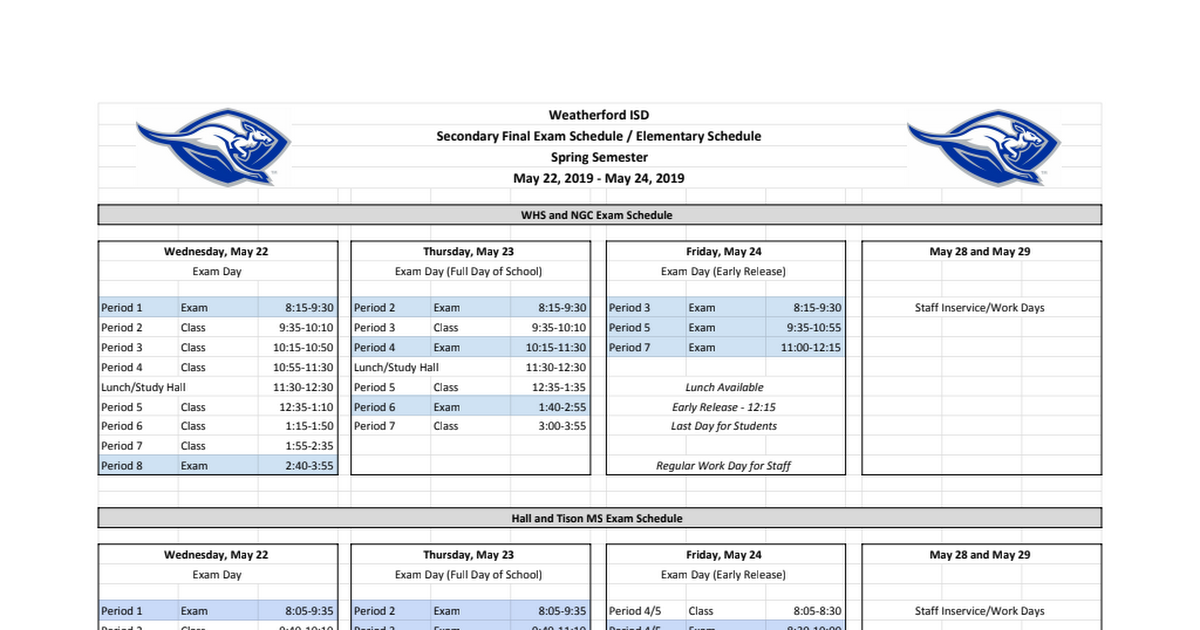 Spring Semester Final Exam Schedule 2019.pdf
