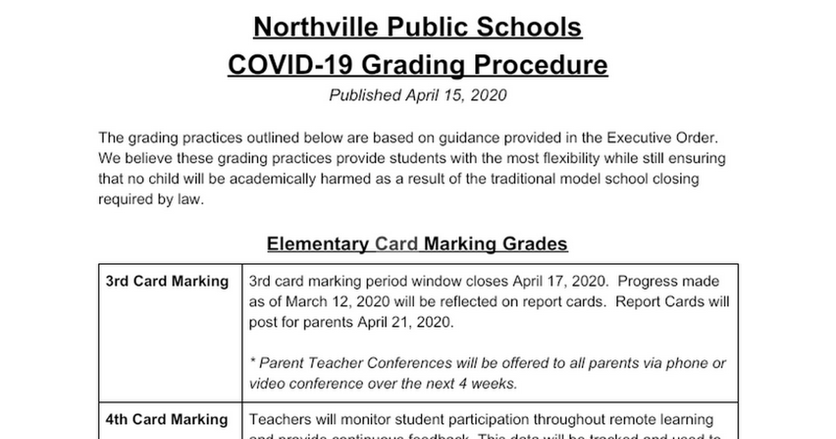 NPS Public Grading Document COVID 19