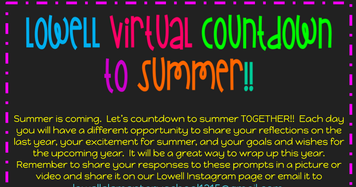 Lowell Virtual Countdown