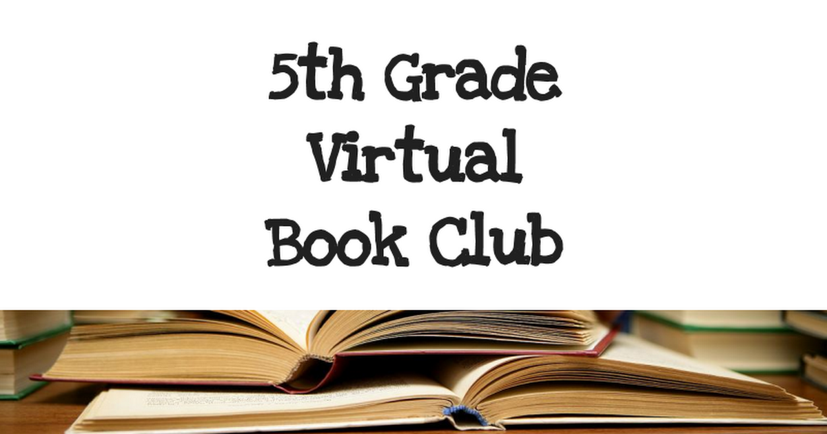 5th Grade  Social Issues  Book Clubs
