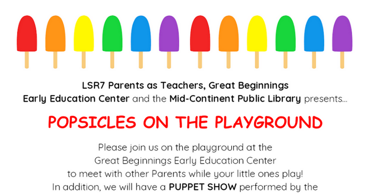 Popsicles on the Playground 2019