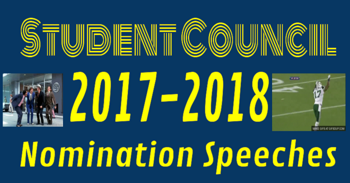 Student Council Speeches 2017-18