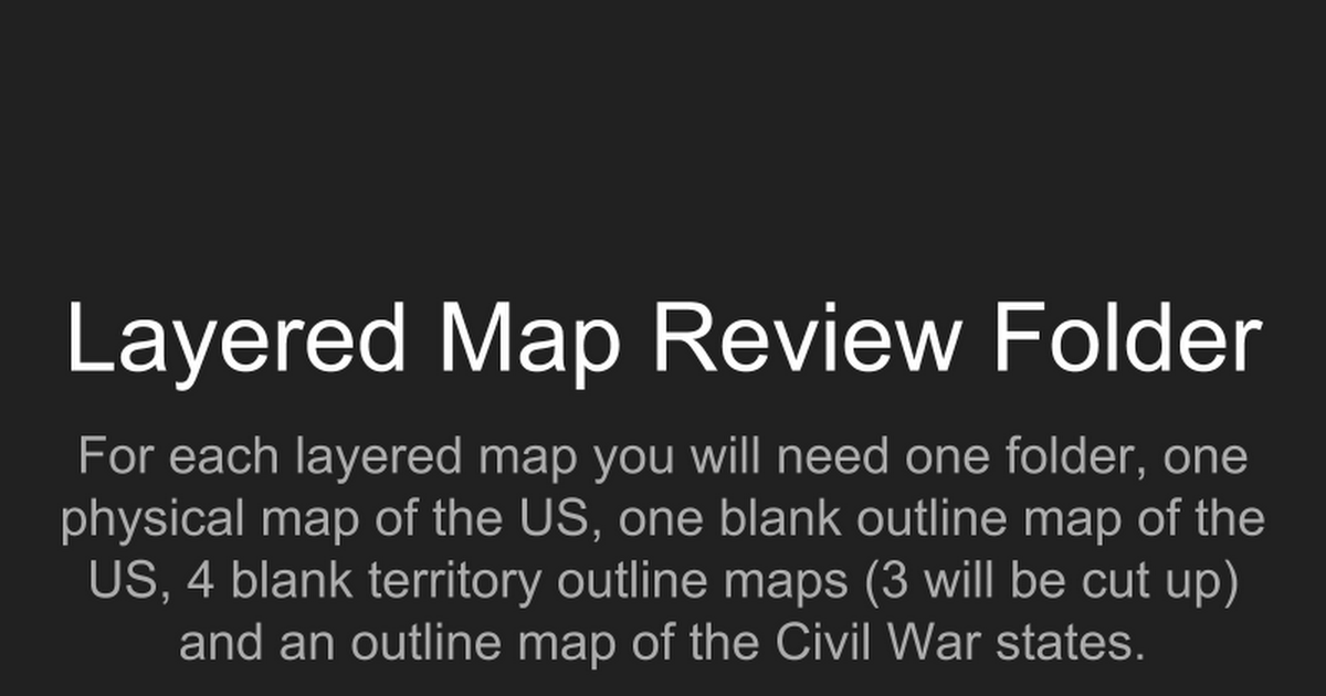 Map Review
