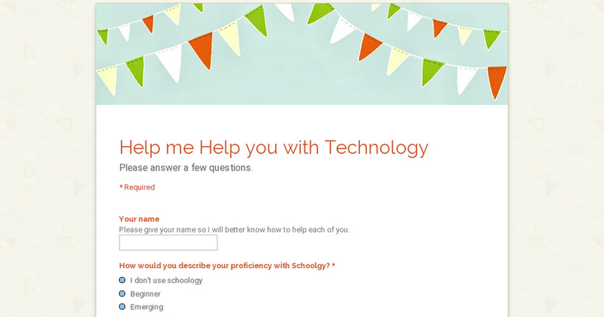 Help me Help you with Technology