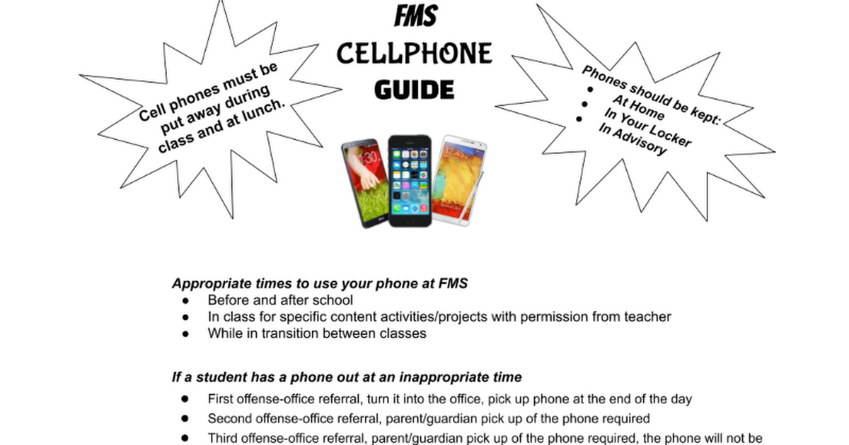 FMS Cellphone Guide Updated 8/2020