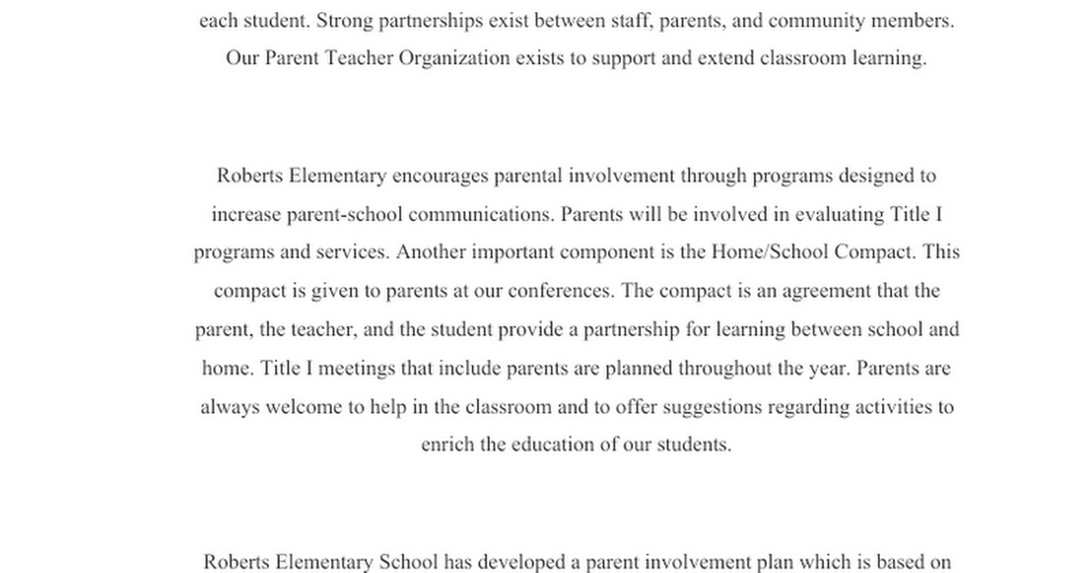 Utica Community Schools Title I Plan