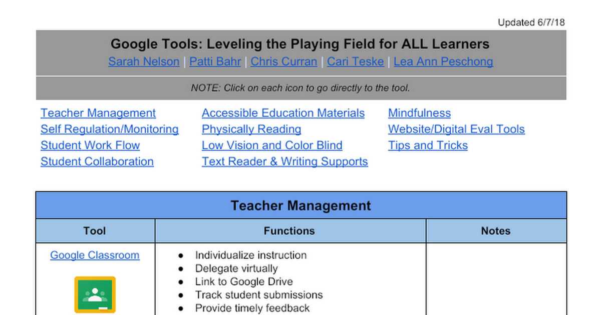 Google Tools: Leveling the Playing Field for ALL Learners