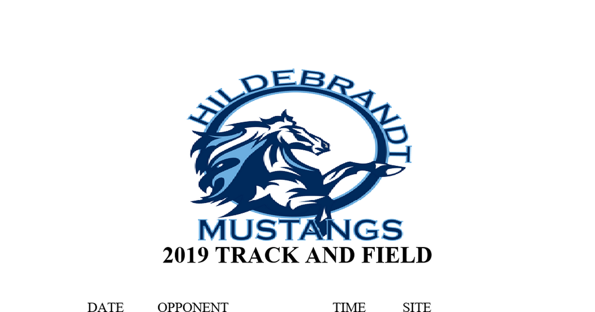 TRACK AND FIELD SCHEDULE 2019.doc