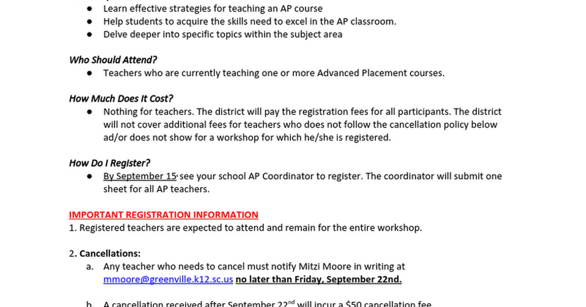 2017 AP Workshops WHHS One Sheet.docx