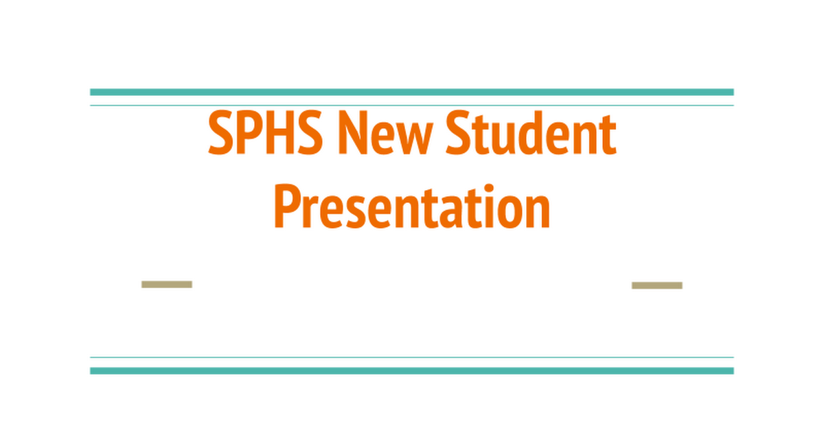 Student Presentation - 20/21 Back to School 8-24