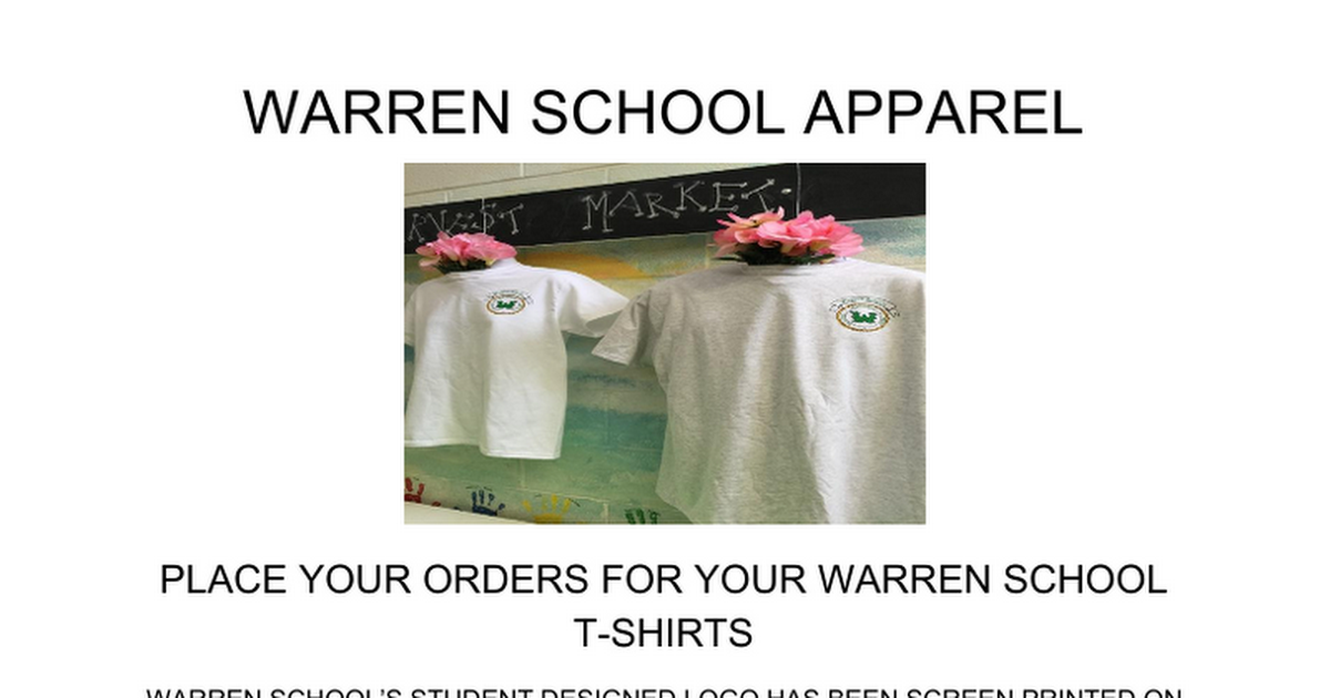Warren School t-shirt order form.docx