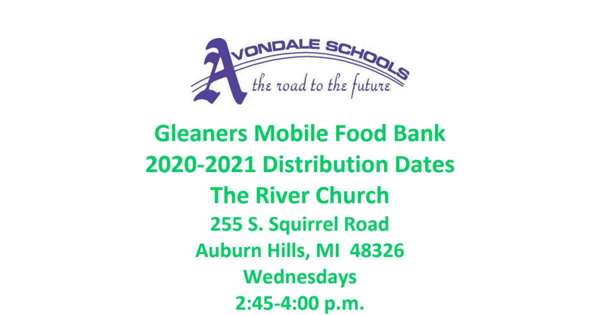 Gleaners Distribution Schedule 2020-21.pdf