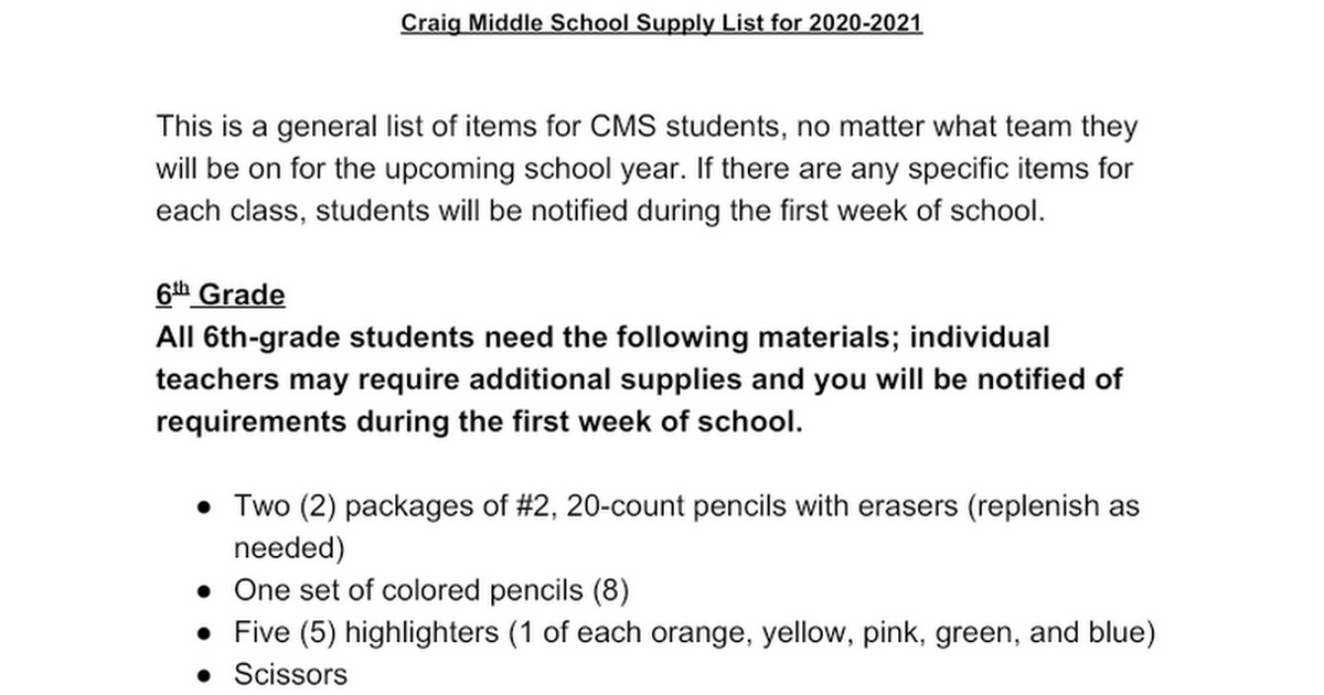 Copy of CMS 2018-2019 Supply List