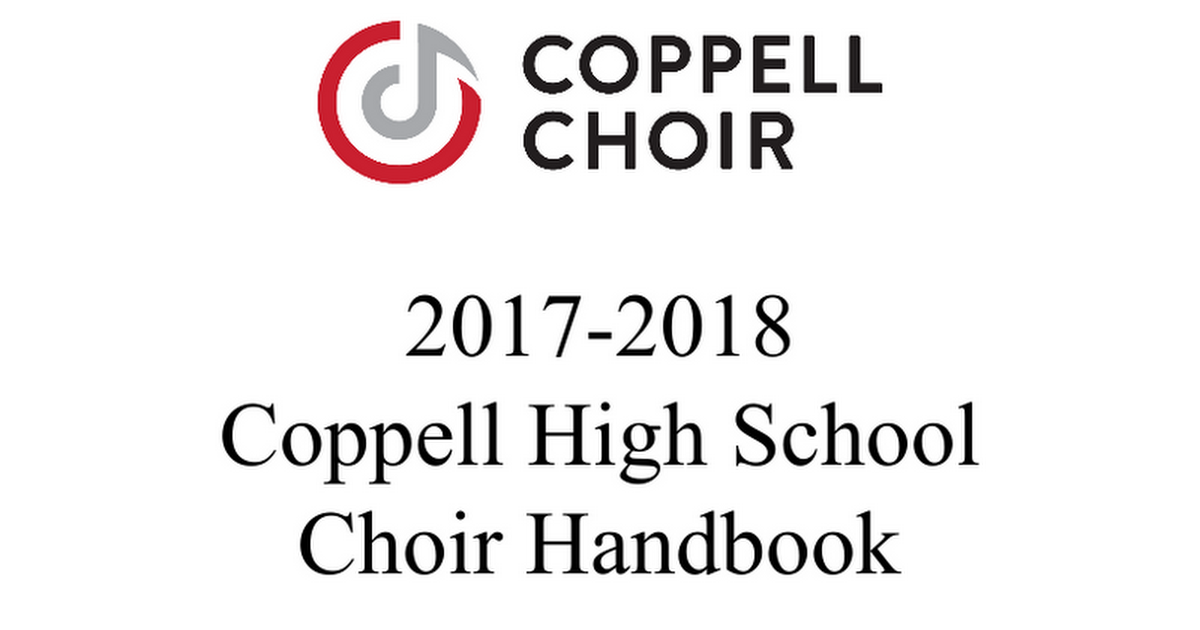 CHS Choir Handbook17 Draft.doc