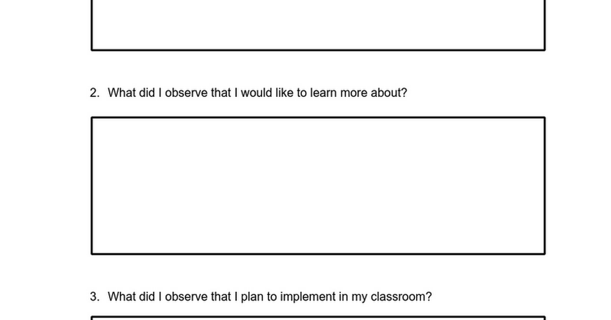 Instructional Rounds sample