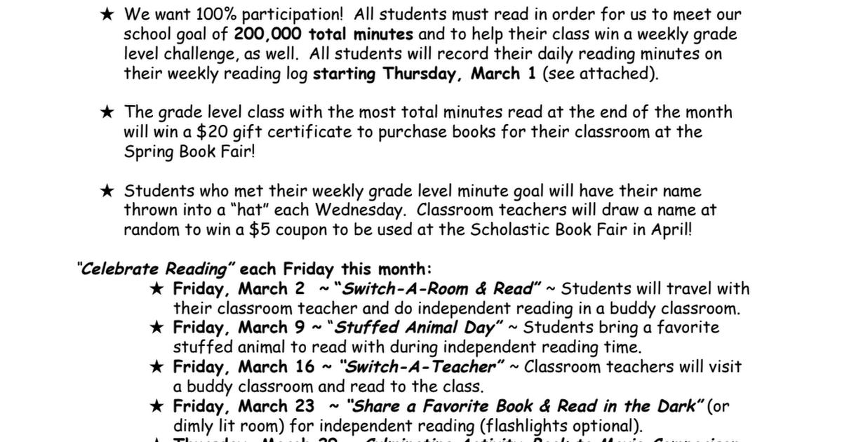 Scholastic Book Fair Gift Certificate