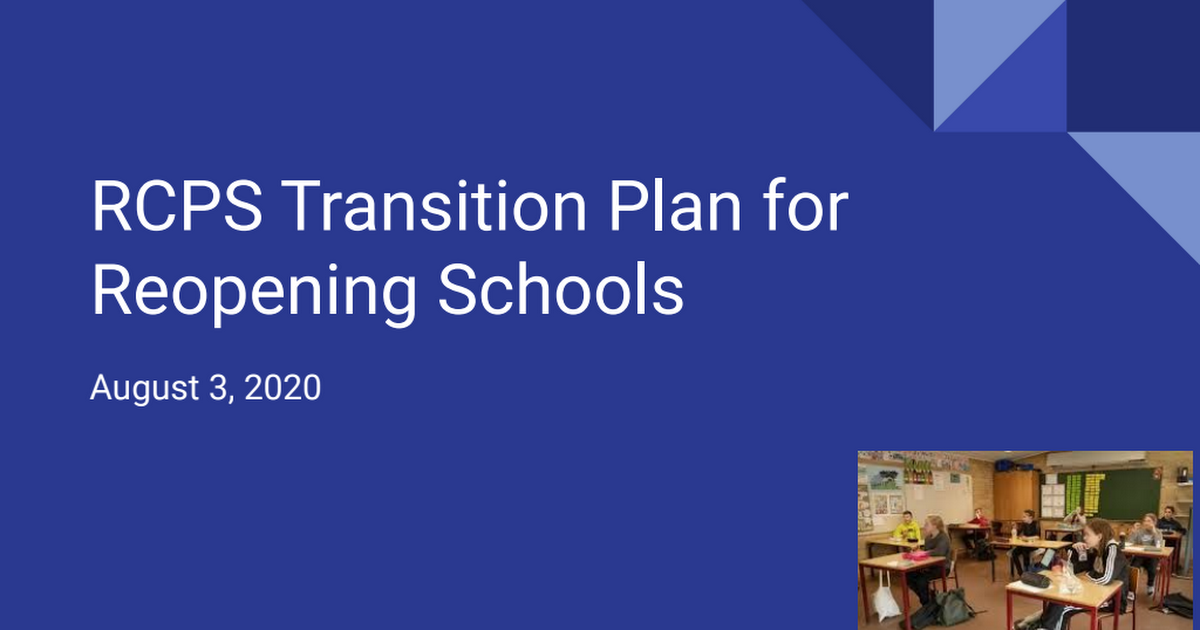 Transition Plan for Reopening Schools August 3.pdf