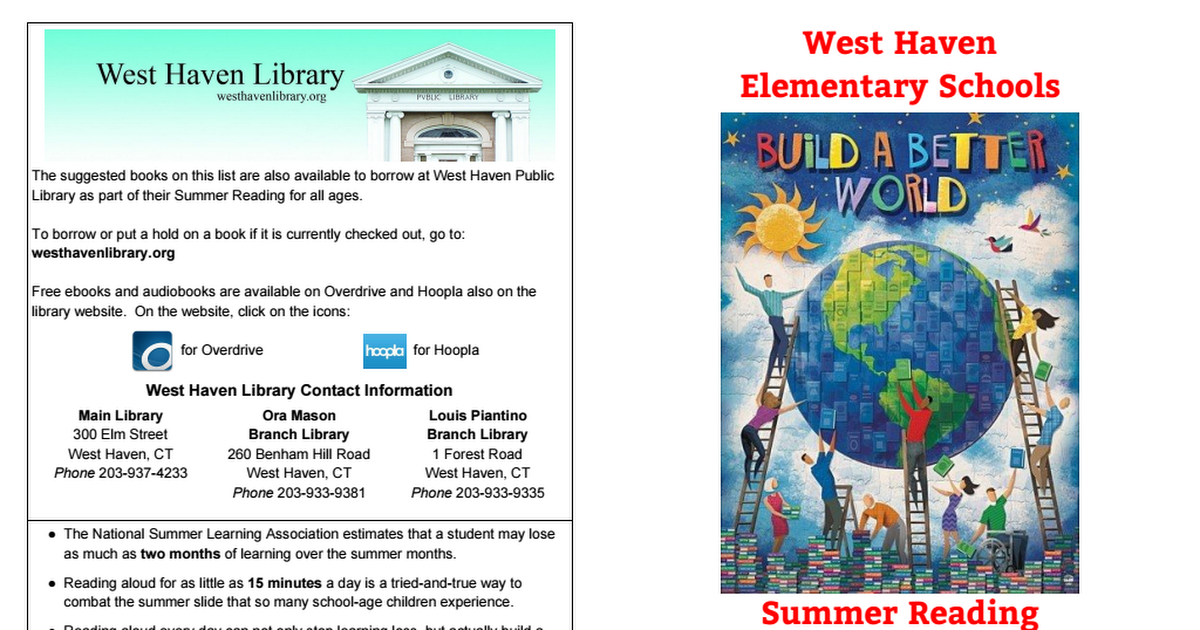 2017 West Haven Elementary Summer Reading.pdf