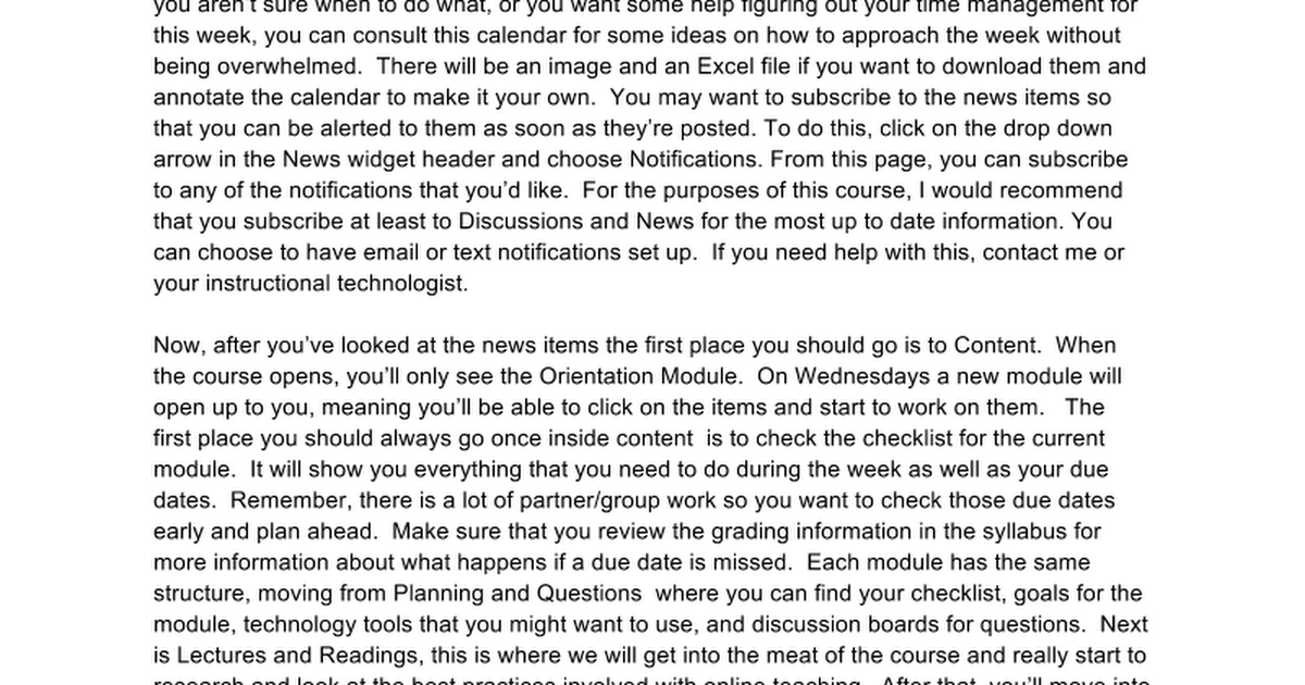 Transcript: Course Walkthrough