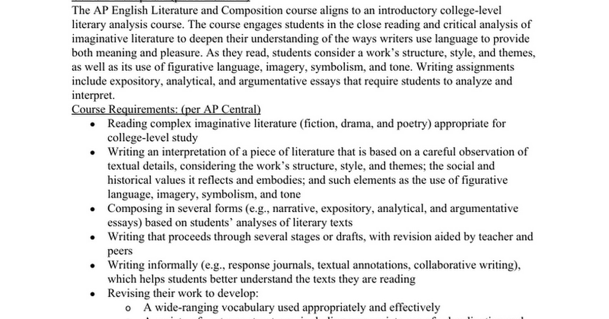 AP Literature and Composition Syllabus 2016-2017 Revision.docx