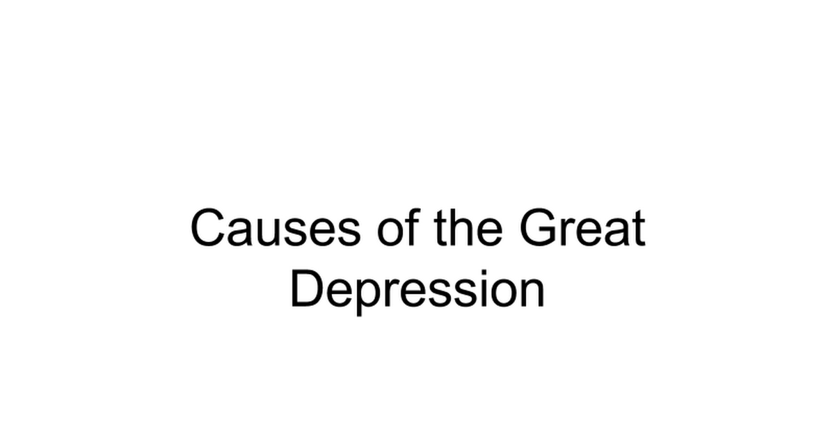 Causes of the Great Depression Stations.ppt