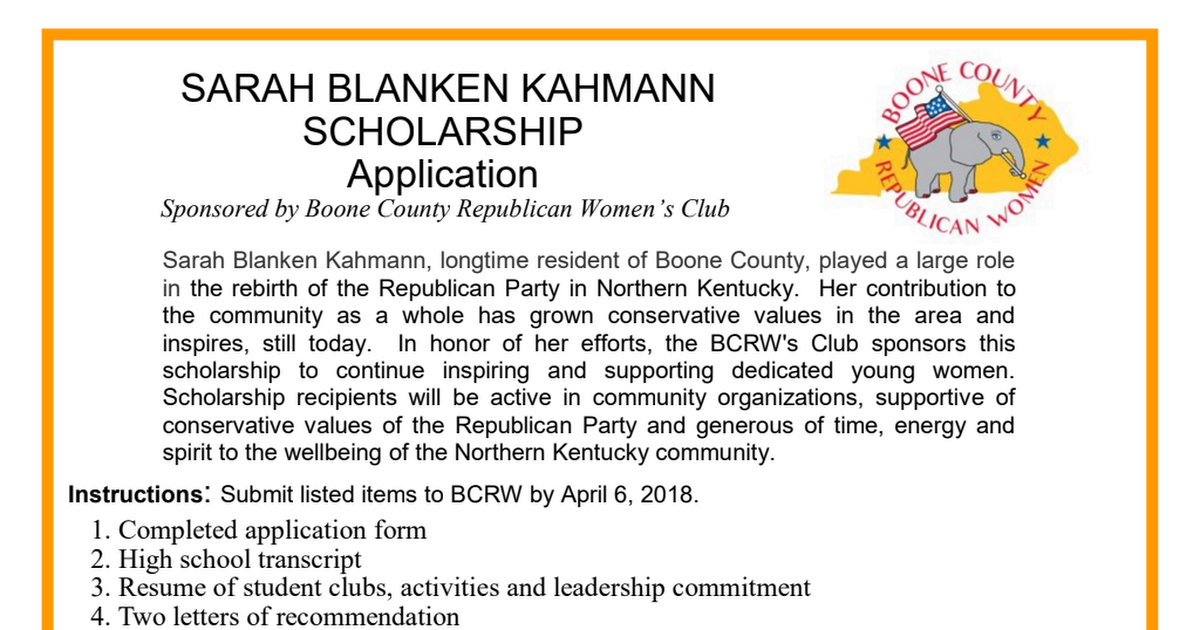 Sarah Blanken Kahmann Scholarship Application.pdf
