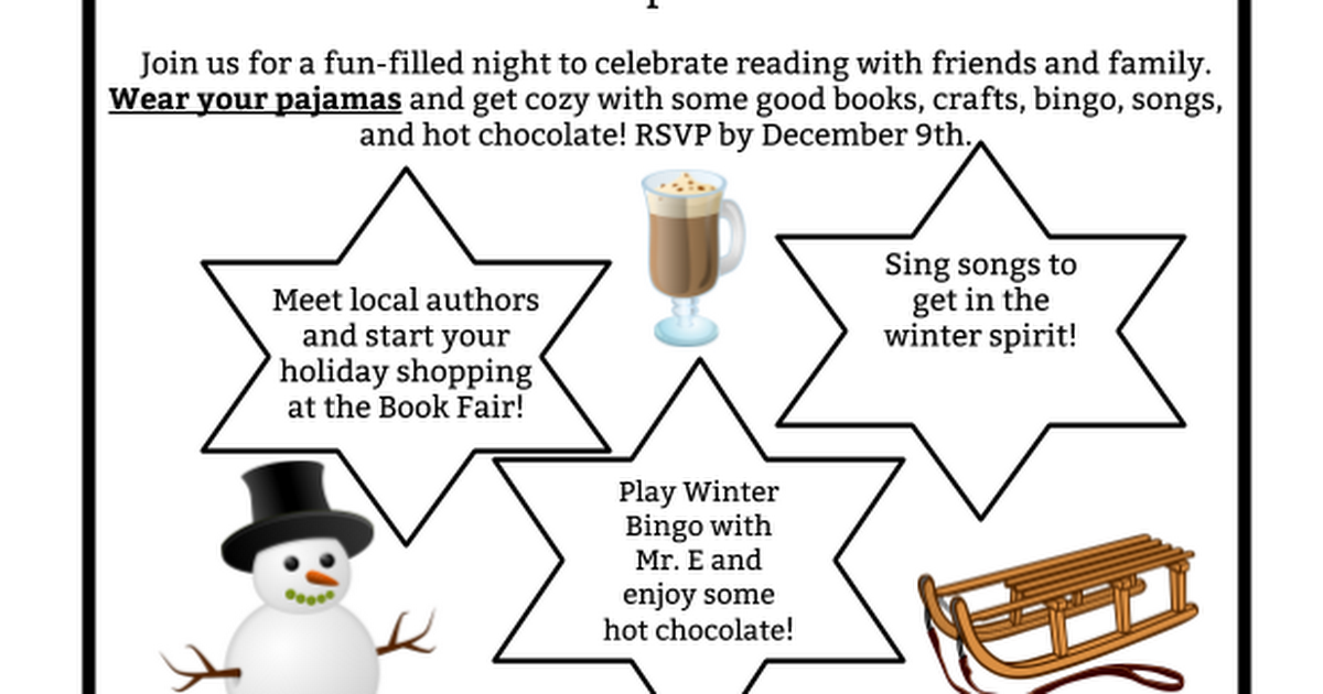 Reading in a Winter Wonderland Flyer