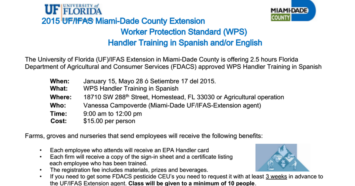 2015 WPS Handler Training Spanish.doc