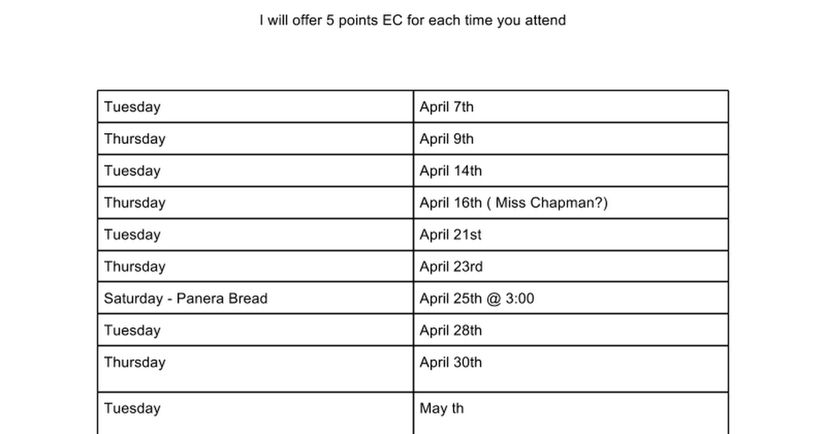 AP English 12: Exam Review Dates 2015