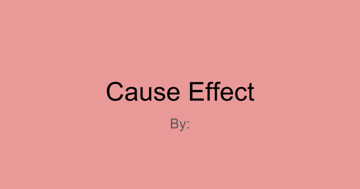 Cause Effect Red