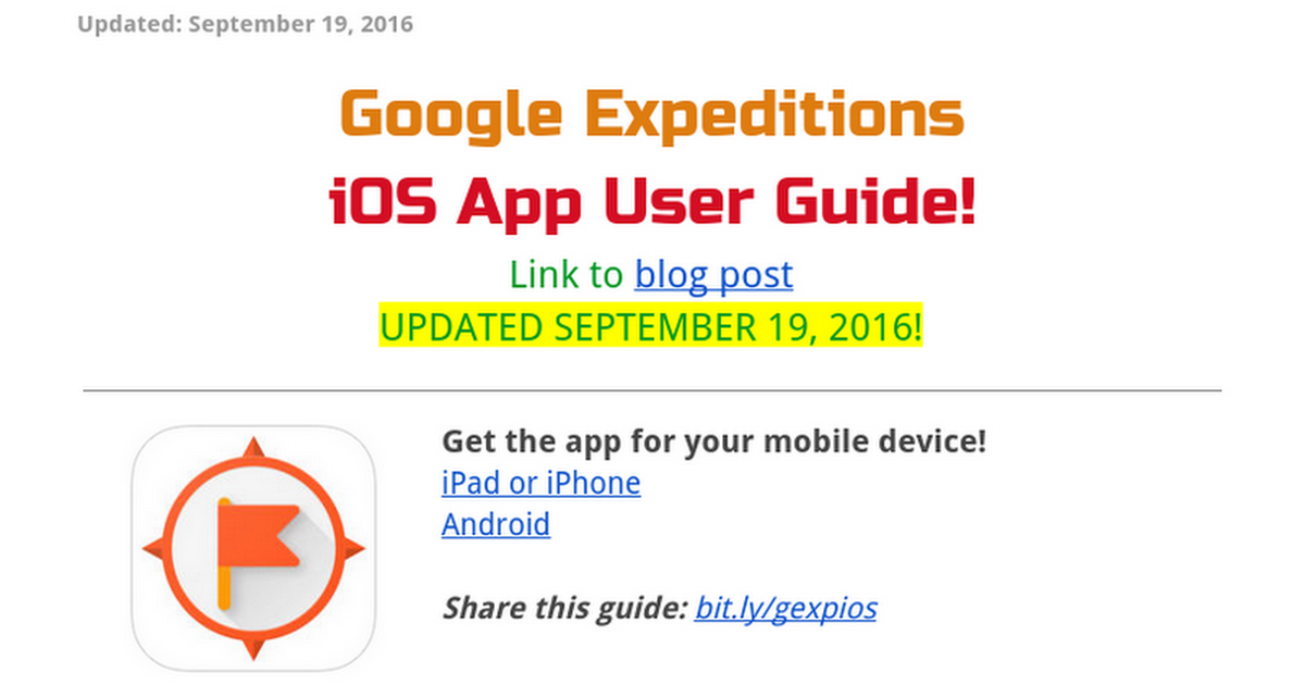Google Expeditions iOS App User Guide - by EdTechnocation.com