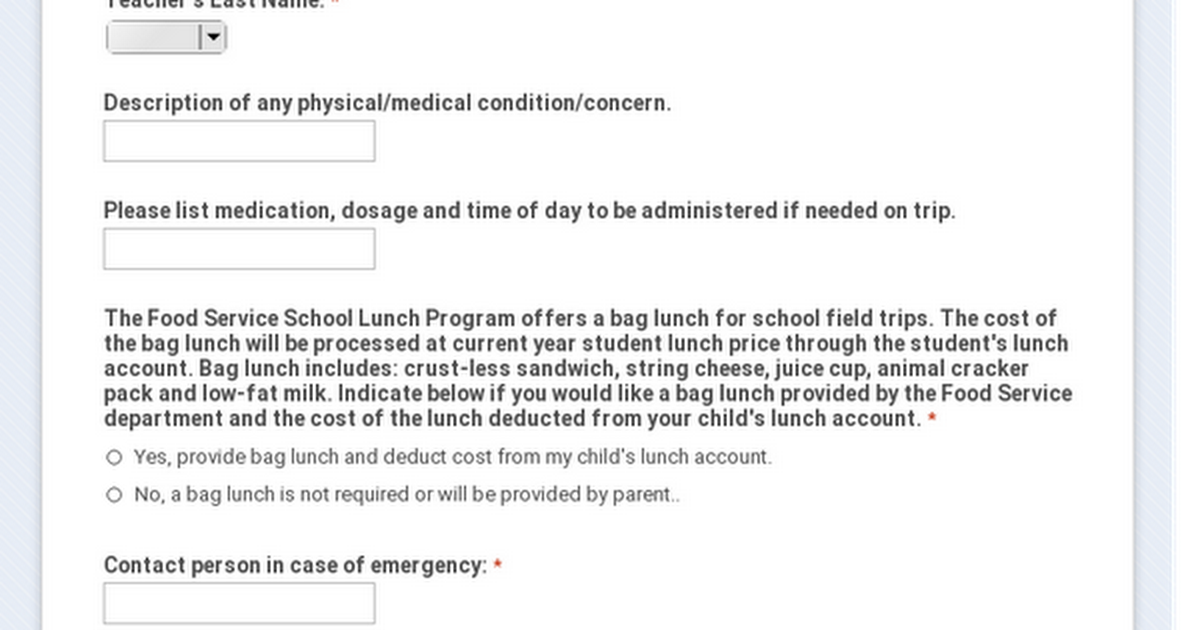 Howard-Suamico School District Daily Field Trip Consent Agreement