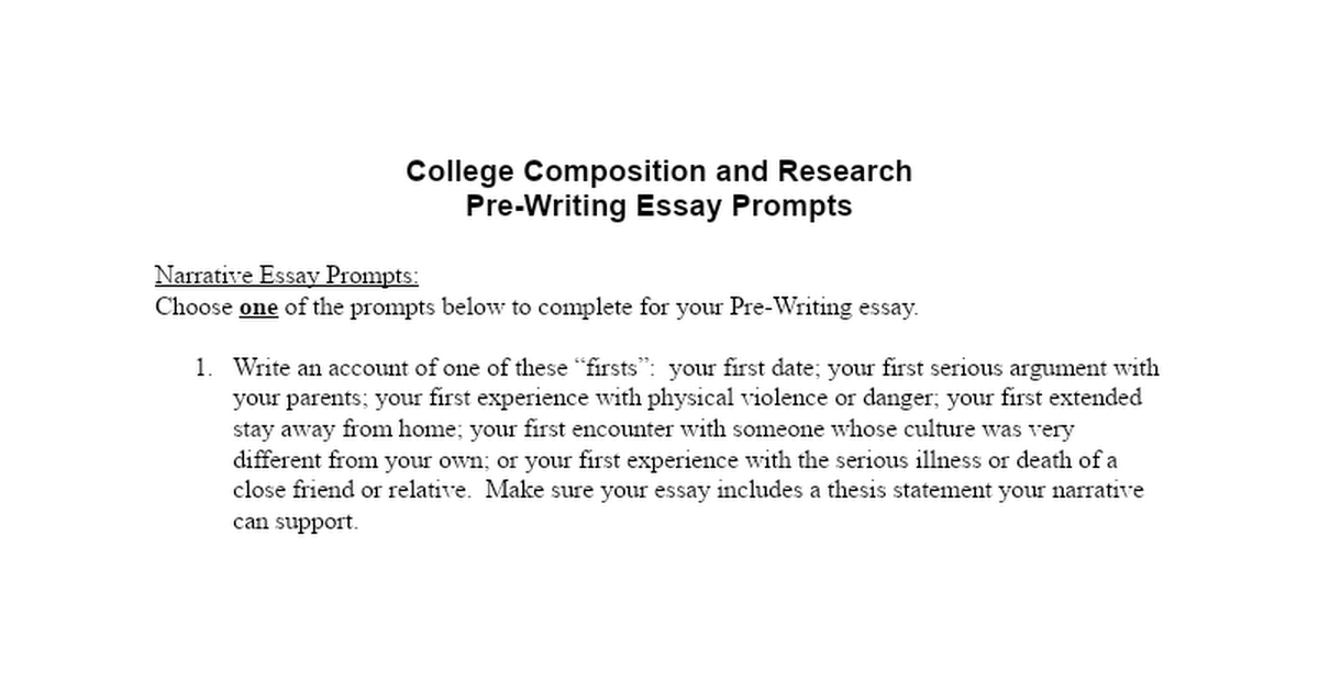 College Composition and Research Pre-Writing Essay - Lauren Mason.docx