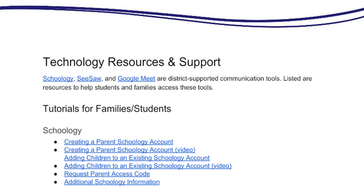 Family Technology Resources & Support