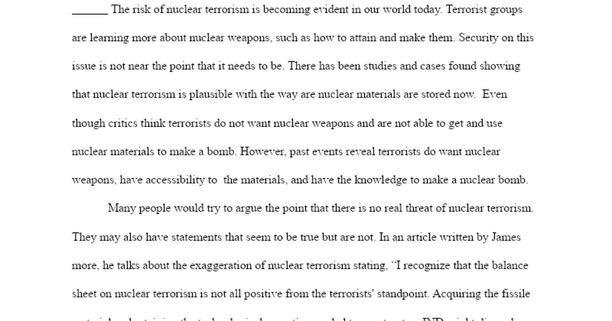 Argumentative Essay - Ian Smith