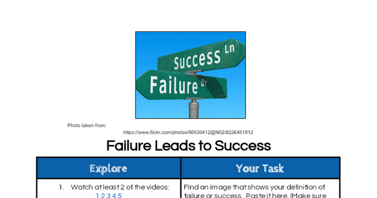 Failure Leads to Success
